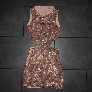 TOBI Cut-Out Sequin Dress